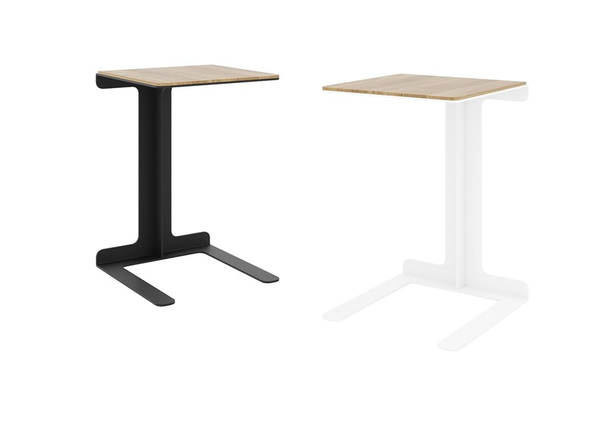 Steel and wood side table TEO   Steel and wood coffee table by take me HOME