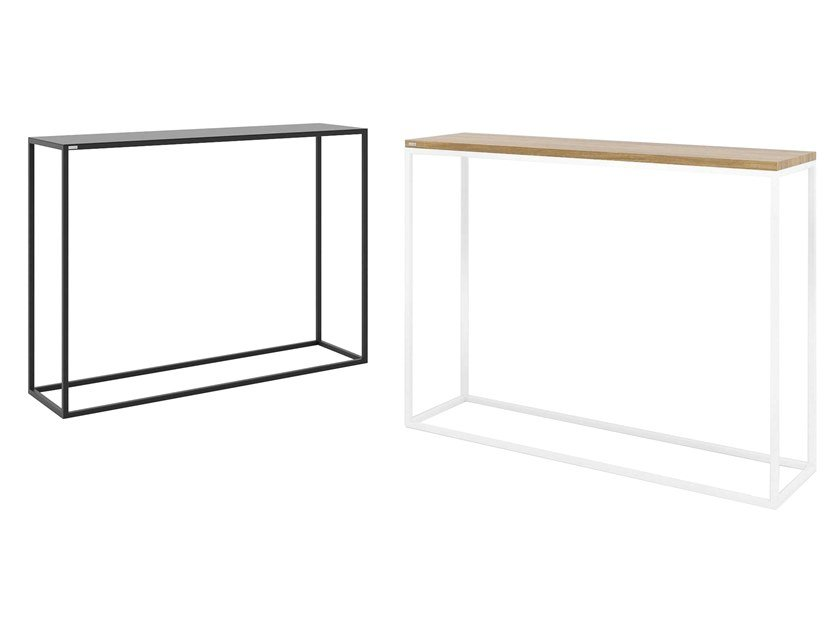 Rectangular steel and wood console table SKINNY | Console table by take me HOME