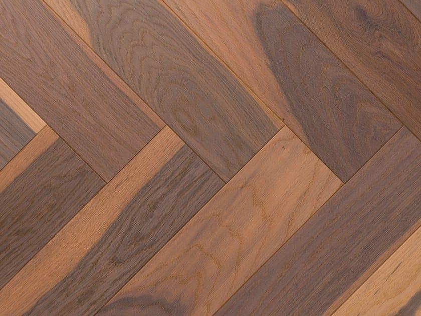 Wooden flooring OAK MOLTO VULCANO 90° - WHITE OIL by mafi