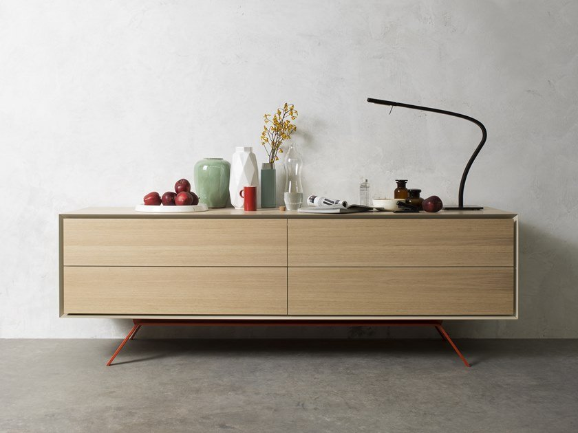 Sideboard with drawers QUARANTACINQUE | Oak sideboard by Capo d'Opera