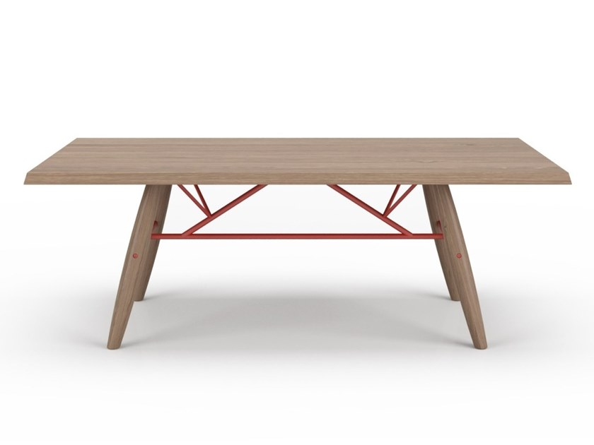 Rectangular oak dining table CONNECTION   Oak table by Huppé