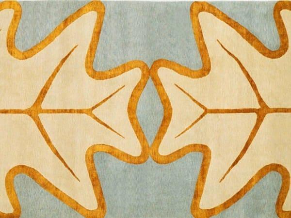 Handmade rectangular rug OAKLEAF by Deirdre Dyson