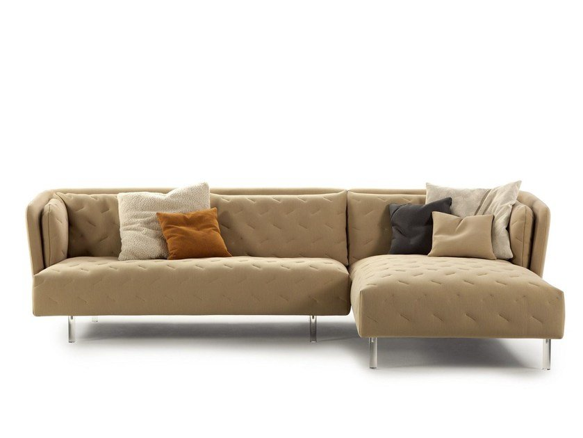 Fabric sofa with chaise longue OBI | Sofa with chaise longue by Sancal