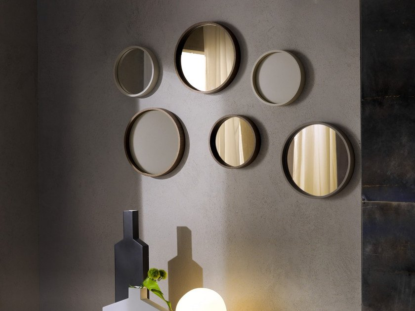 Specchio rotondo con cornice OBLO' by Pacini & Cappellini