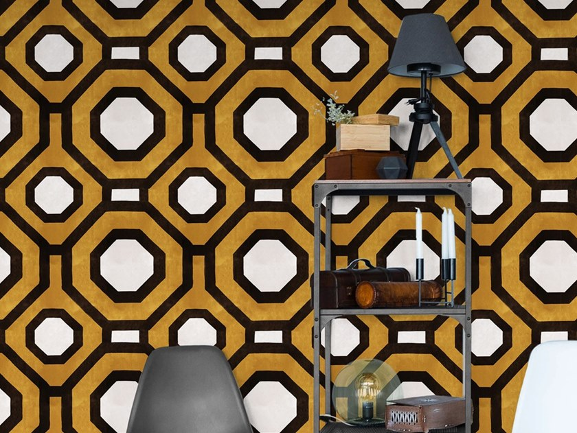 Industrial style Ecological washable PVC free wallpaper OCTAWALL by Wallpepper