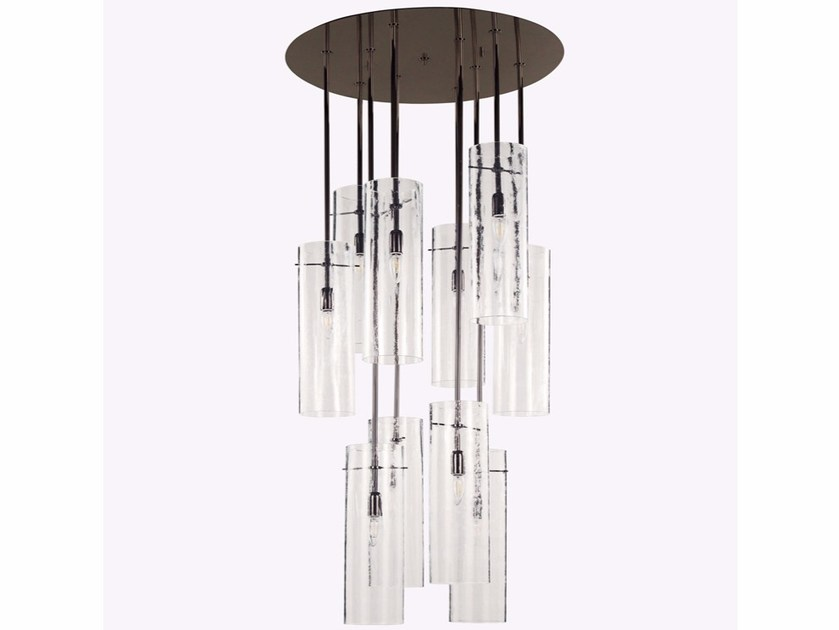 Handmade Murano glass pendant lamp OCTOBAN by MULTIFORME