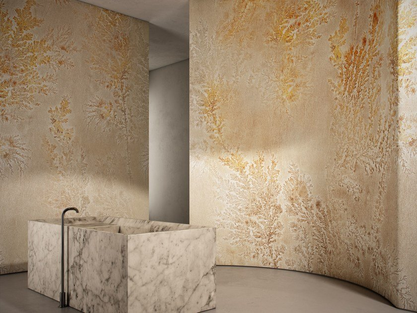 Washable vinyl wallpaper with floral pattern OCTOCORALLIA by GLAMORA