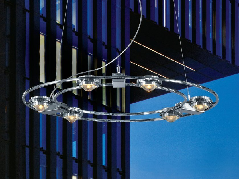 Pendant lamp with dimmer OCULAR 800 by LICHT IM RAUM