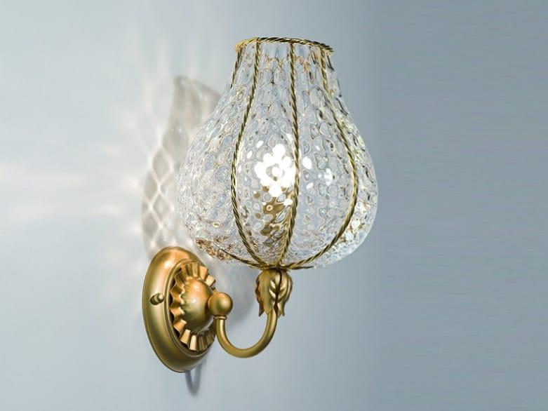 Murano glass wall lamp ODALISCA MB 128 by Siru