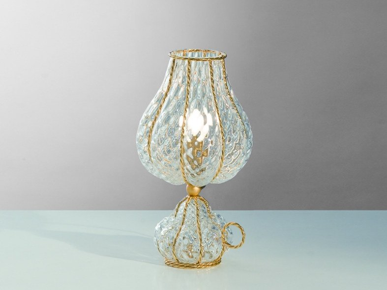 Murano glass table lamp ODALISCA MT 130 by Siru