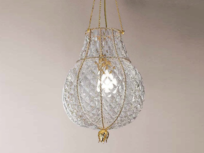 Murano glass pendant lamp ODALISCA MS 128 by Siru