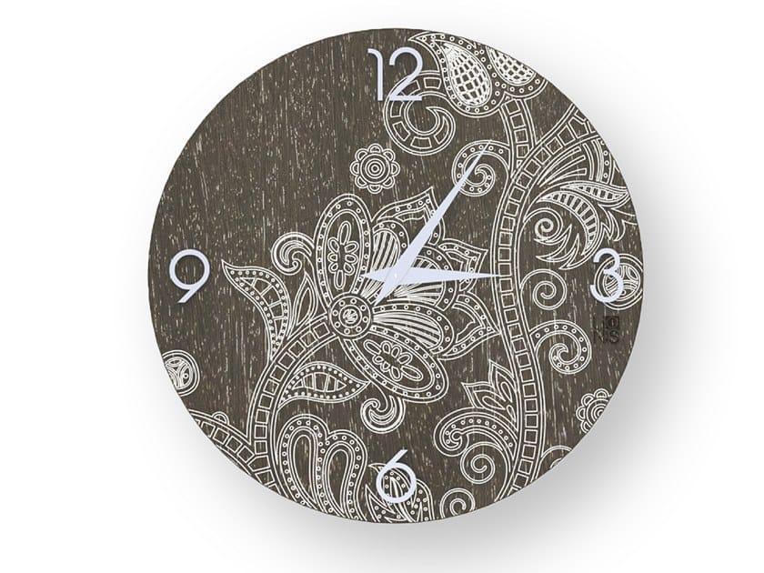 Orologio da parete in legno stuccato ODALISQUE WARM | Orologio by LIGNIS®