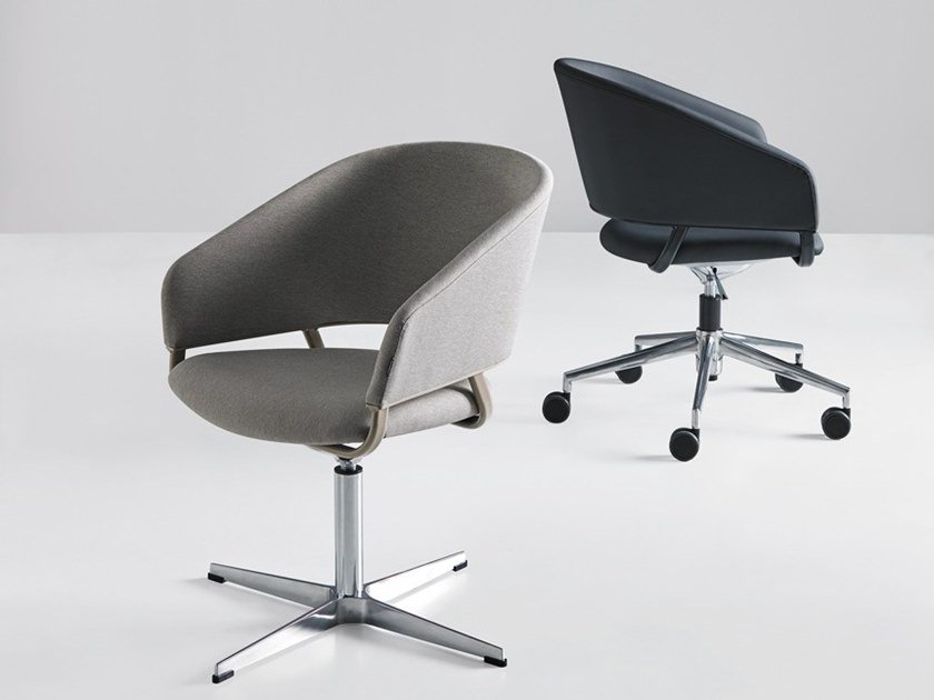Swivel task chair with armrests with 5-Spoke base ODEI ODGC / ODBC by Mobboli
