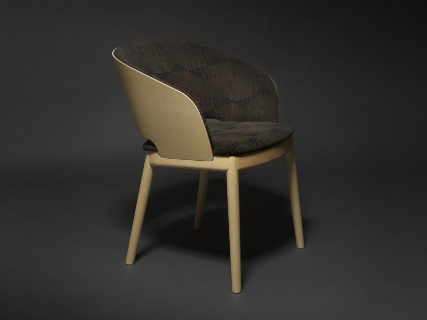 Easy chair with armrests ODEON 02 by Very Wood