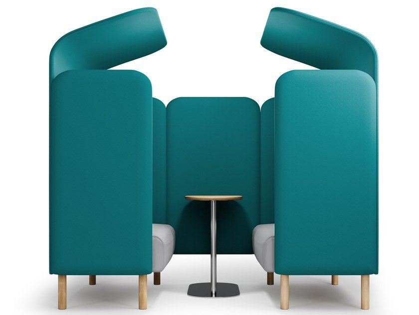 Acoustic fabric office booth for coffee break AUGUST | Office booth by SOFTREND