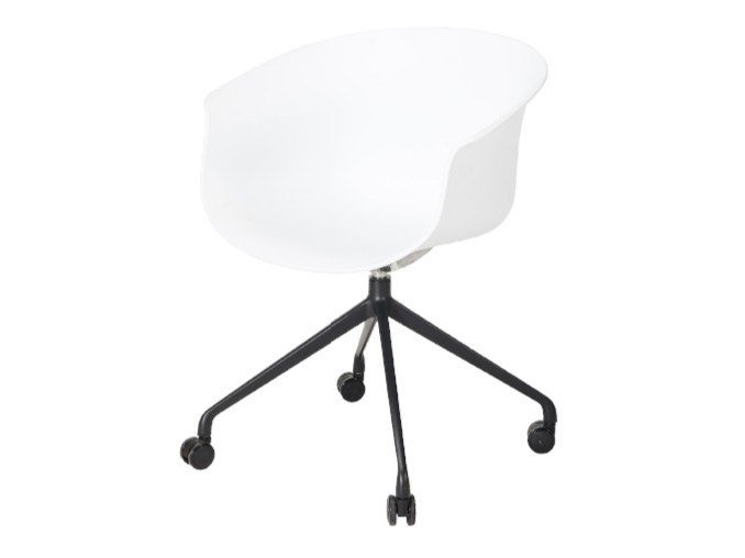 Polypropylene office chair with 4-Spoke base with castors QUEEN | Office chair with 4-Spoke base by grado design