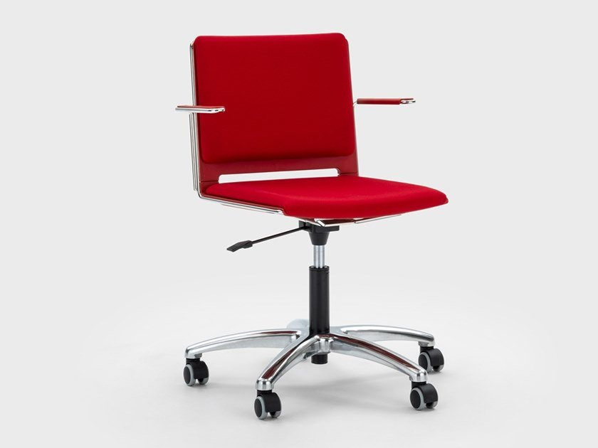Fabric office chair with 5-Spoke base with castors DAISY | Office chair with 5-Spoke base by Viganò