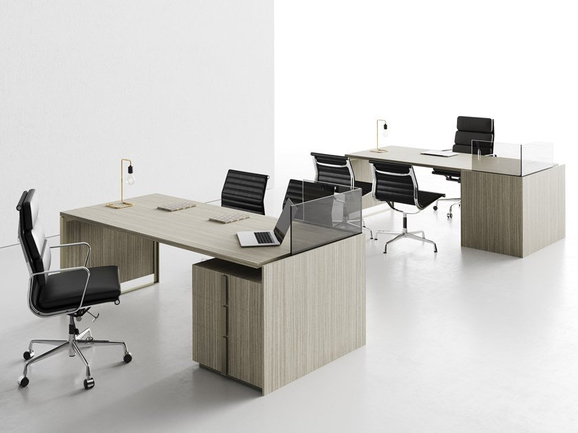 Laminate office desk with drawers MAGENTA | Office desk with drawers by CUF Milano