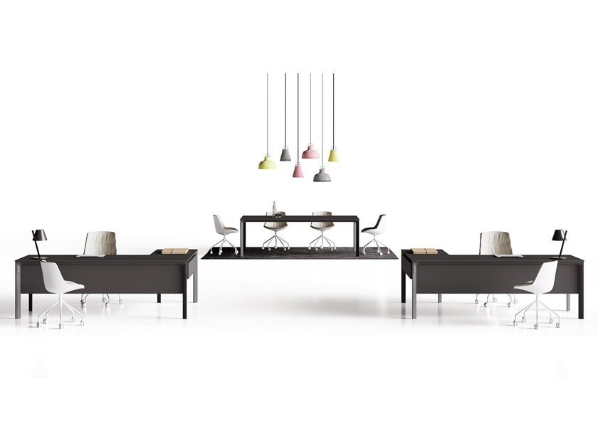 L-shaped office desk SEVENTY SEVEN | Office desk by CUF Milano
