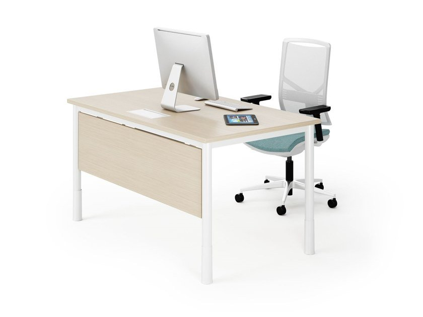 Rectangular office desk P-SQUARE | Office desk by FURNIKO