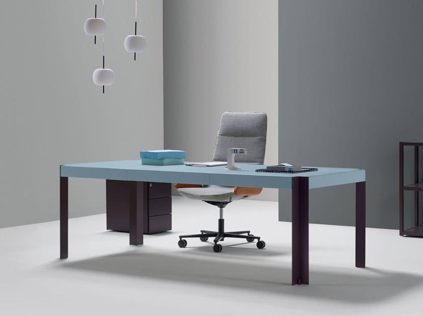 Rectangular wooden office desk ROGER | Office desk by Quinti Sedute