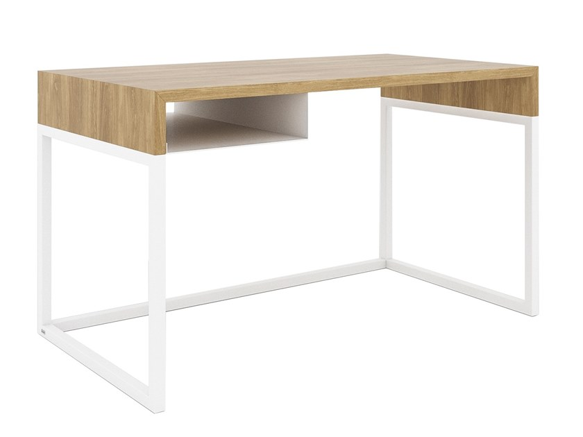 Steel and wood writing desk with bookcase WOODBOX | Writing desk by take me HOME