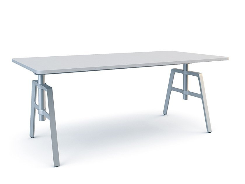 Rectangular HPL workstation desk ETIO | Office desk by Wiesner-Hager