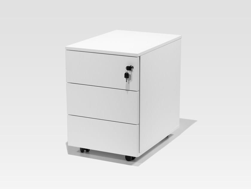 Cassettiera ufficio con ruote con serratura PEDESTALS | Cassettiera ufficio by BALMA
