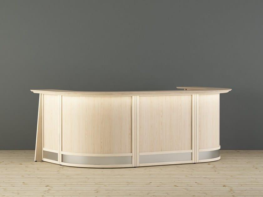 Wooden Office reception desk EUROPO | Office reception desk by Glimakra of Sweden