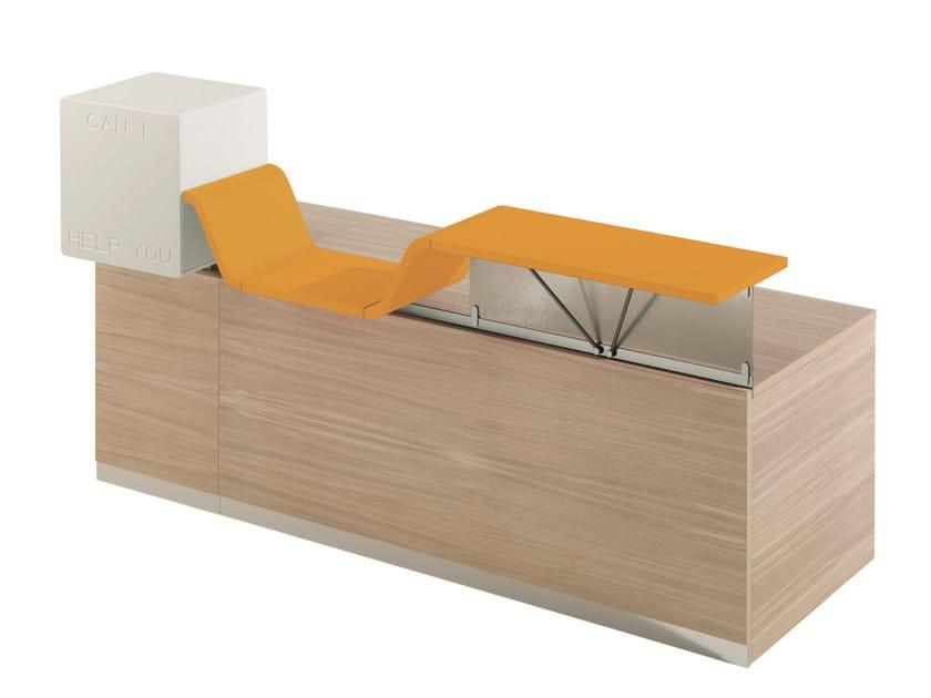 Modular Reception desk CAN I HELP YOU | Office reception desk by NEWTOM by Ultom