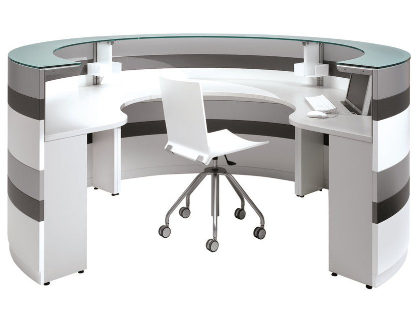 Modular Office reception desk TWIST | Office reception desk by NEWTOM by Ultom