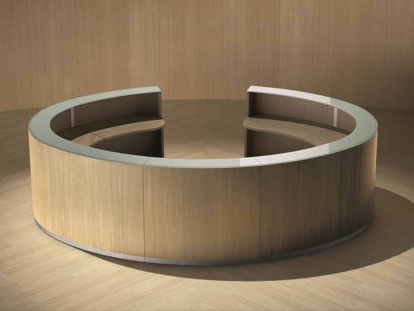 Modular Office reception desk BENGENTILE | Office reception desk by Ultom