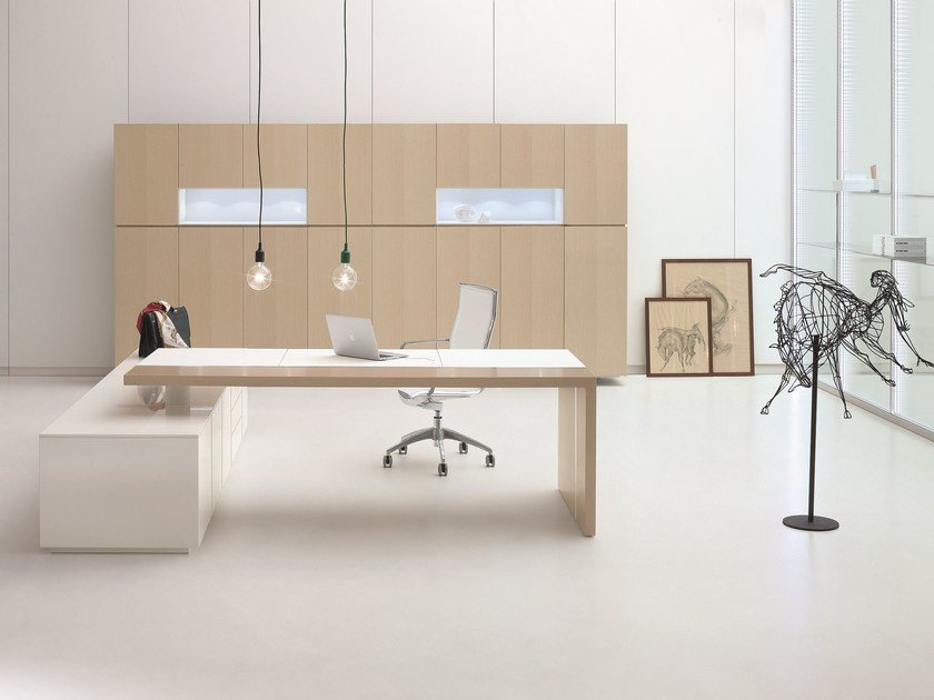 Wooden office shelving AR.TU. | Office shelving by Archiutti