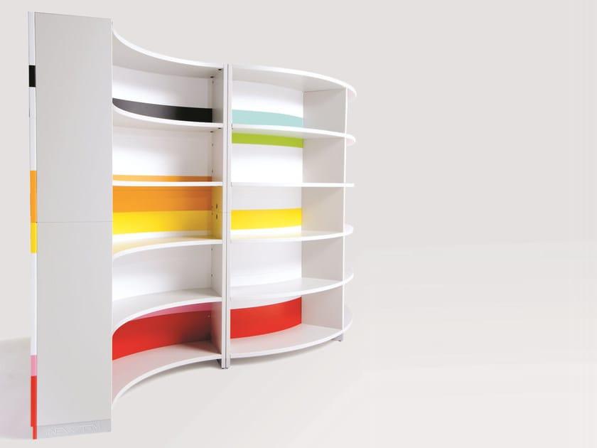 Freestanding Modular office shelving TWIST | Office shelving by NEWTOM by Ultom