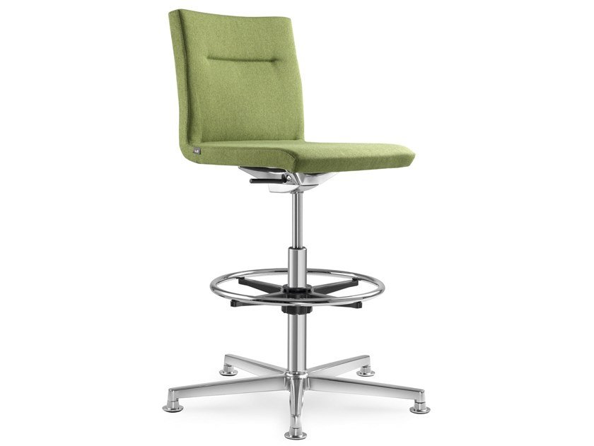 Fabric office stool with 5-Spoke base SEANCE CARE | Office stool by LD Seating