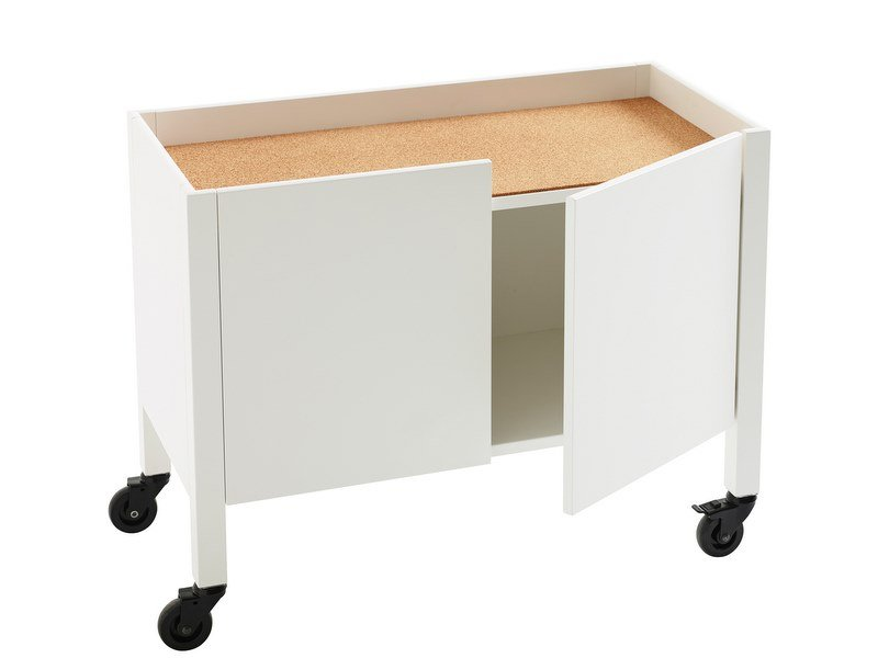 MDF office storage unit with casters UPPER | Office storage unit by Karl Andersson