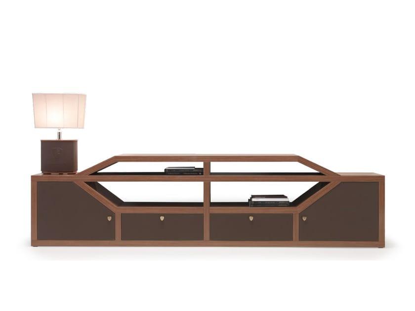 Low wood veneer office storage unit with hinged doors LONG BEACH | Office storage unit with hinged doors by Tonino Lamborghini Casa