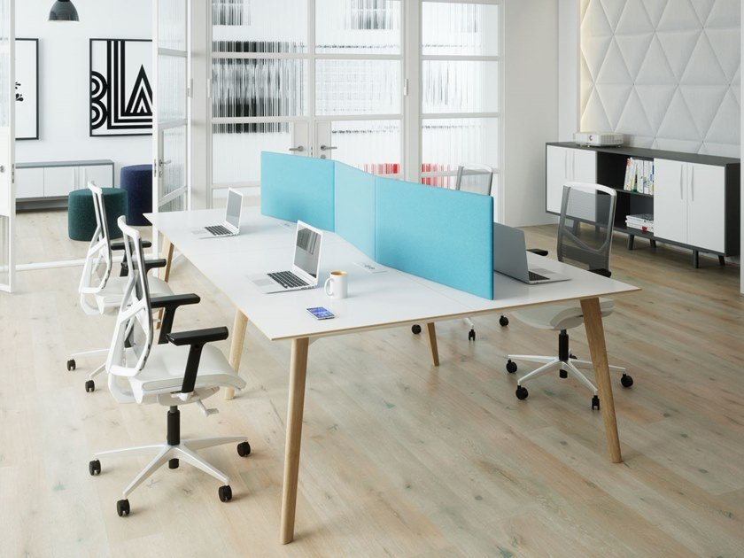 Multiple office workstation TUNDRA | Office workstation by FURNIKO