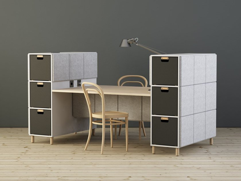 Multiple office workstation SABINE | Office workstation by Glimakra of Sweden