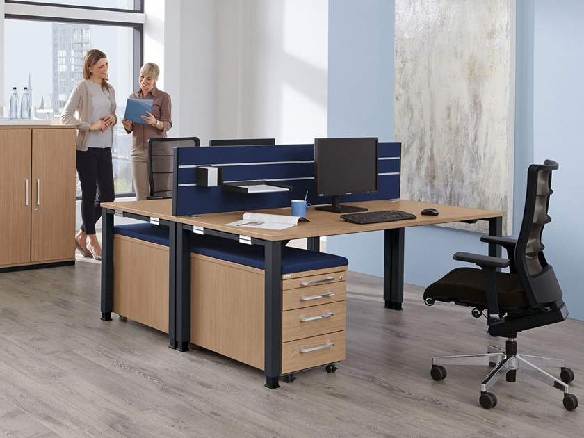 Multiple office workstation SYSTO·TEC | Office workstation by PALMBERG