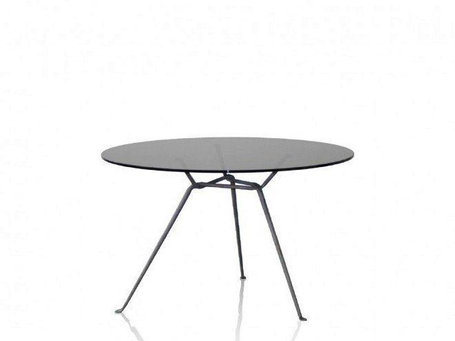 Round crystal table OFFICINA | Crystal table by Magis