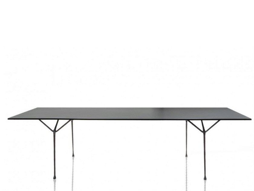Galvanized plate table OFFICINA | Galvanized plate table by Magis