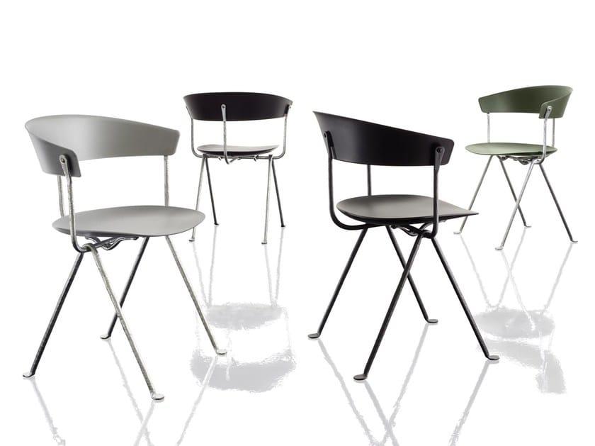 Polypropylene chair OFFICINA | Polypropylene chair by Magis