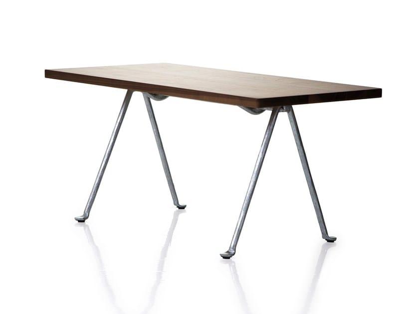 Rectangular multi-layer wood coffee table OFFICINA | Rectangular coffee table by Magis