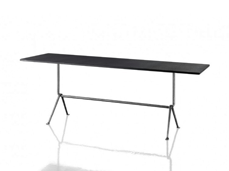 Rectangular galvanized plate table OFFICINA | Rectangular table by Magis