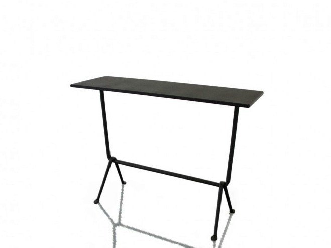 Rectangular galvanized plate console table OFFICINA | Console table by Magis