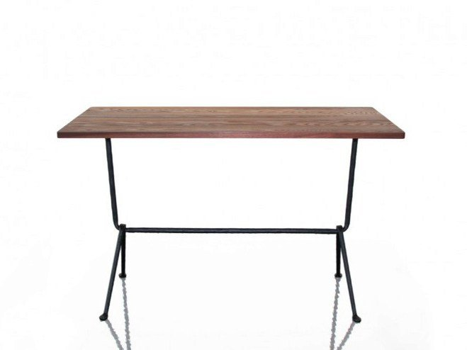 Rectangular walnut table OFFICINA | Walnut table by Magis