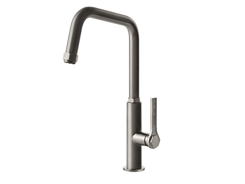Countertop 1 hole stainless steel kitchen mixer tap OFFICINE GESSI - 60051 by Gessi