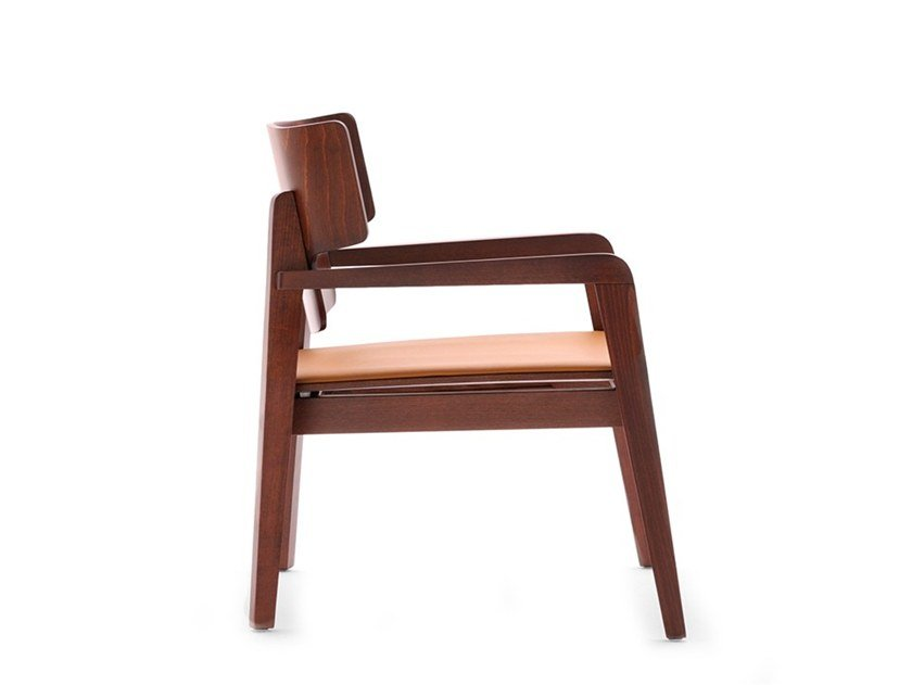 Easy chair with armrests OFFSET 02842 by Montbel