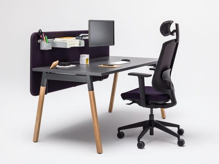 Rectangular workstation desk OGI_W | Office desk by MDD